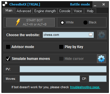Chess Bot - Trial   Chess cheat